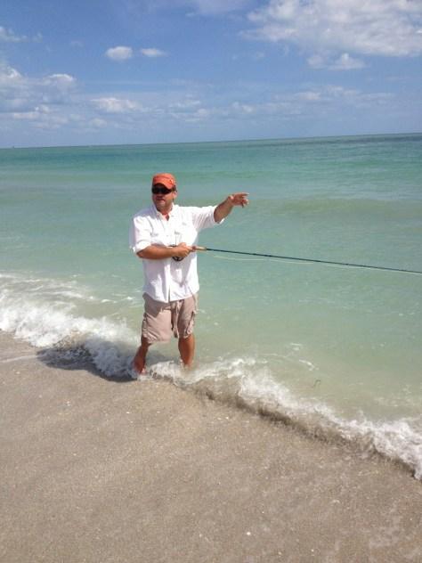 Joe Mahler beach side instruction.