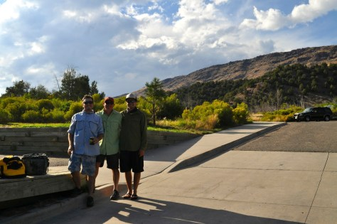 Chris, George and Brenton after a long day of catching fish.