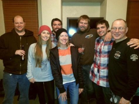 Last night group pic, Mark, Tawnie, me, Jourdan, Brandon, Brenton and father.