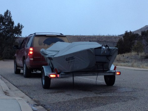 Drift boat packed and ready to go for next time.