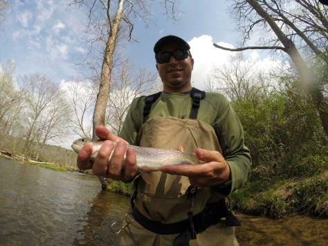 Big Flatbrook Rainbow taken on the fly.