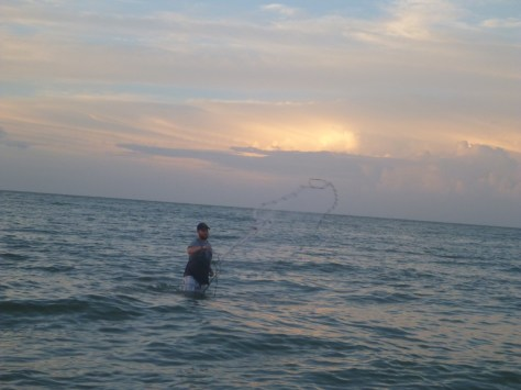 Cast netting is a major skill set for Sanibel locals.
