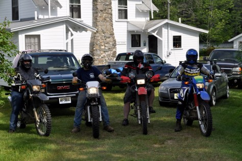 The motorcycle gang.