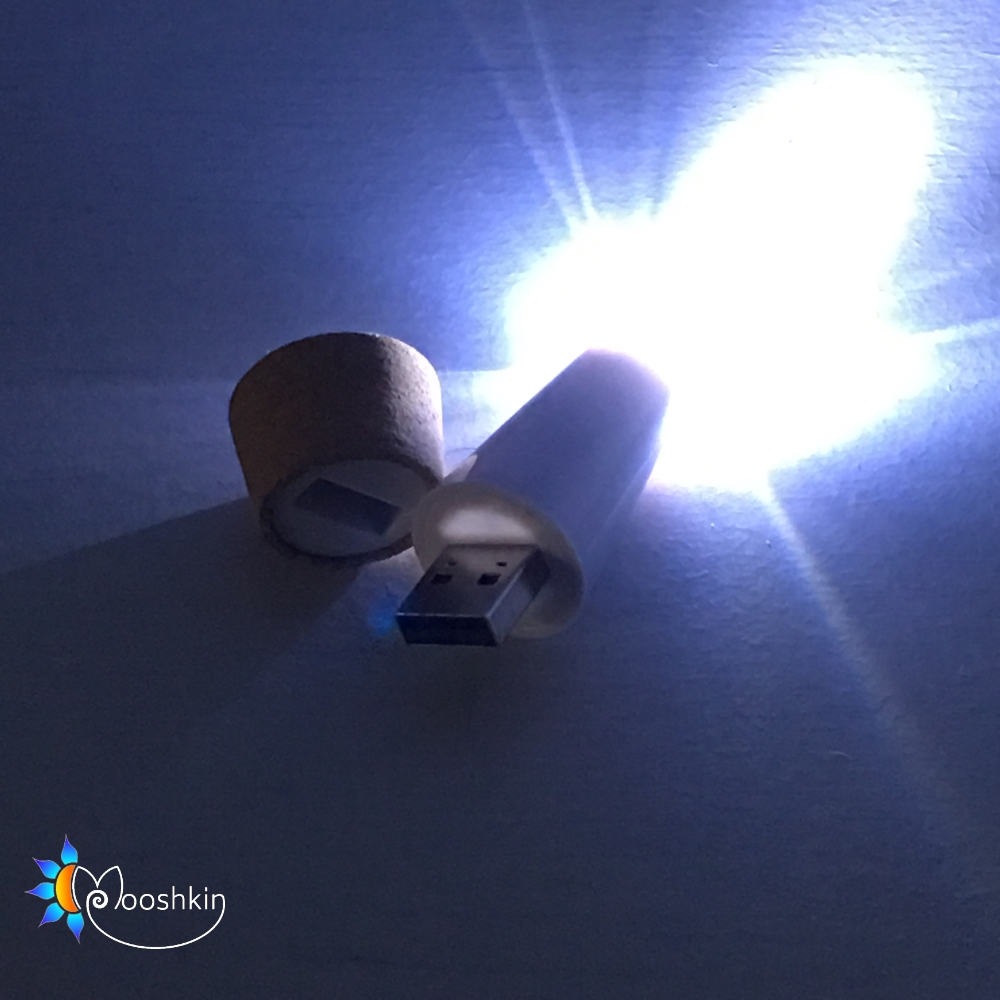 USB rechargeable cork light