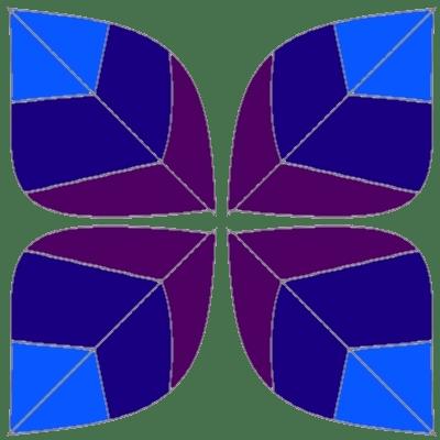 Violet leaves, v2