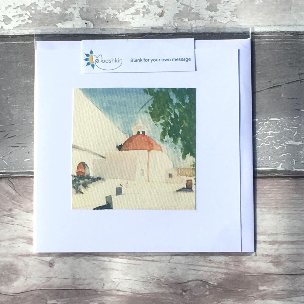 Iglesia del Puig de Missa handmade greetings card
