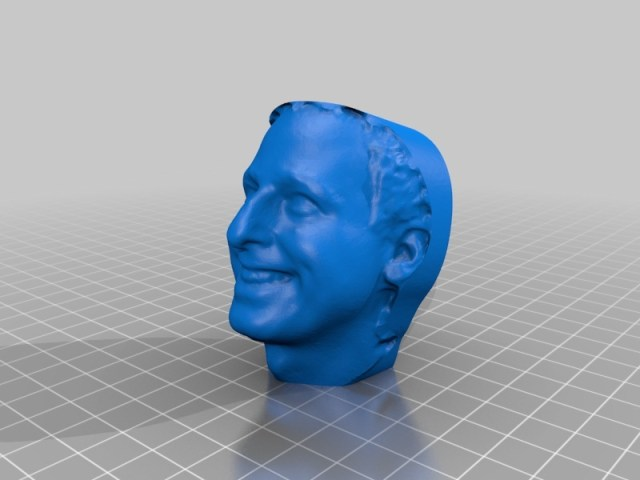 A 3D model of my head that I made at the MakerBot store