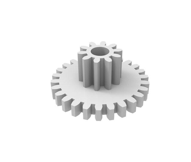 Plastic Gear Module 0 Z Shape With Pinion