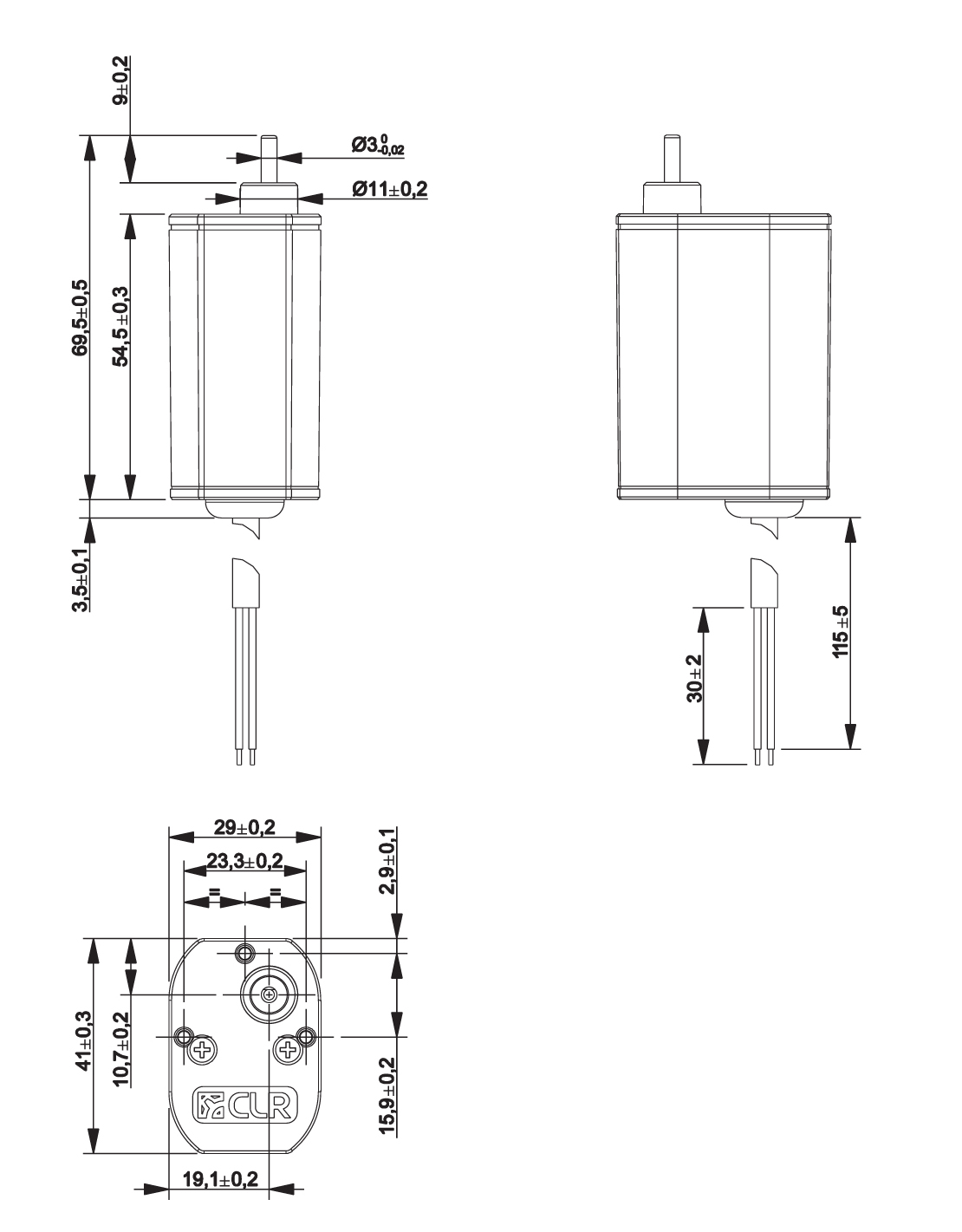 Gear Motor Dc 12v 40rpm Ref 12