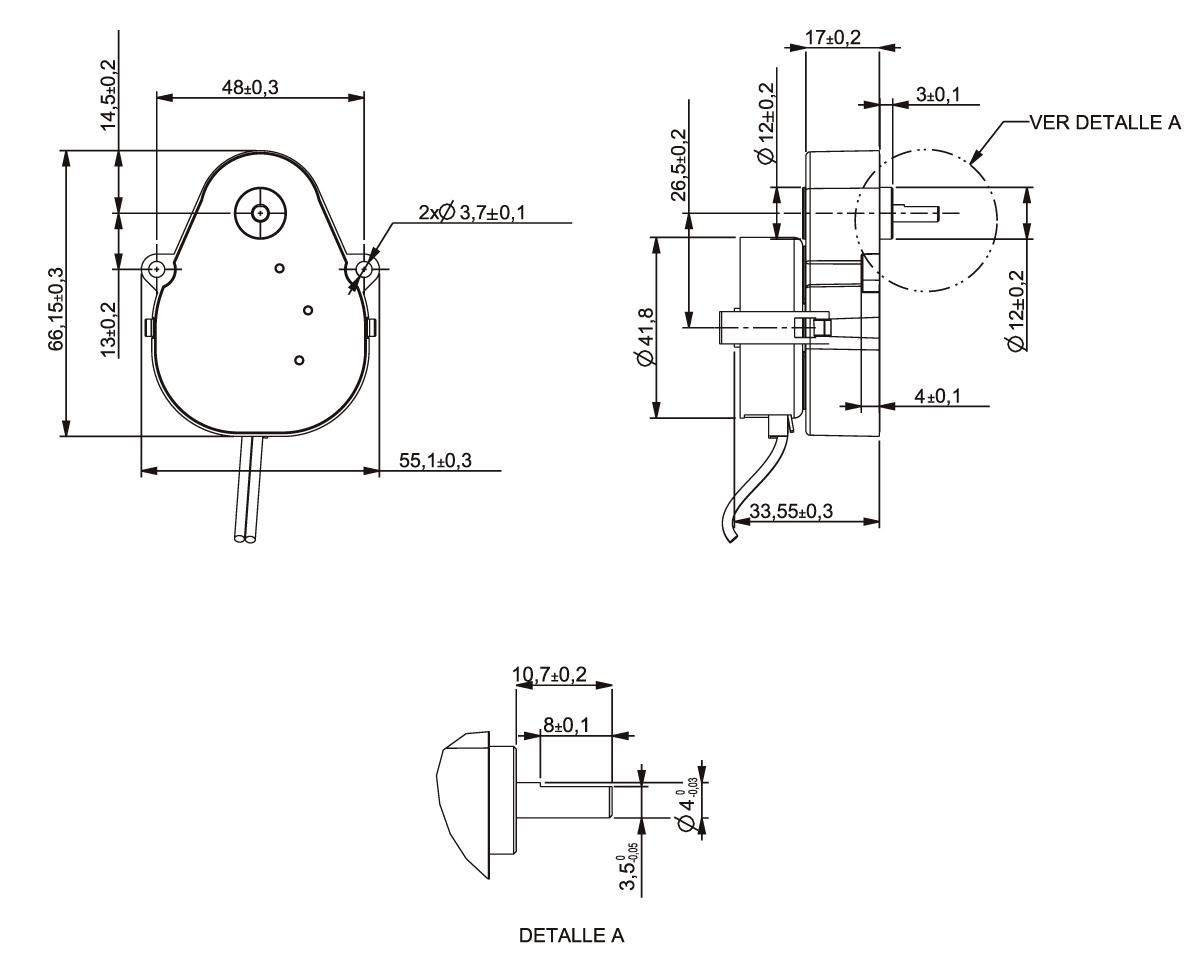 Gear Motor Ac 220v 1rpm Ccw Shaft 4 Mm Ref