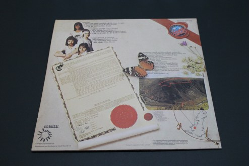 map and certificate on the Good Earth Album showing the 10 acres of land