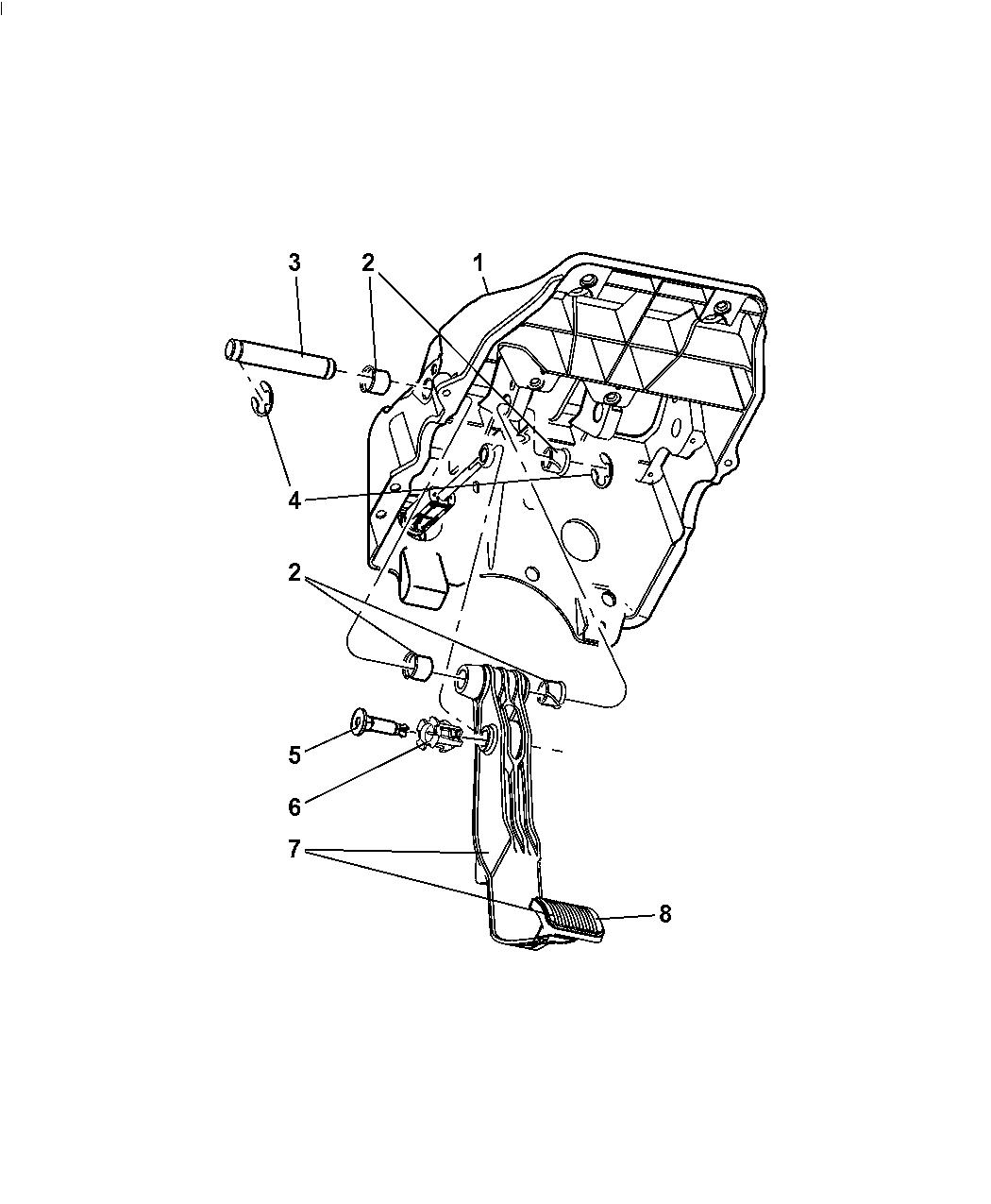 Dodge Ram Pickup Clutch Pedal