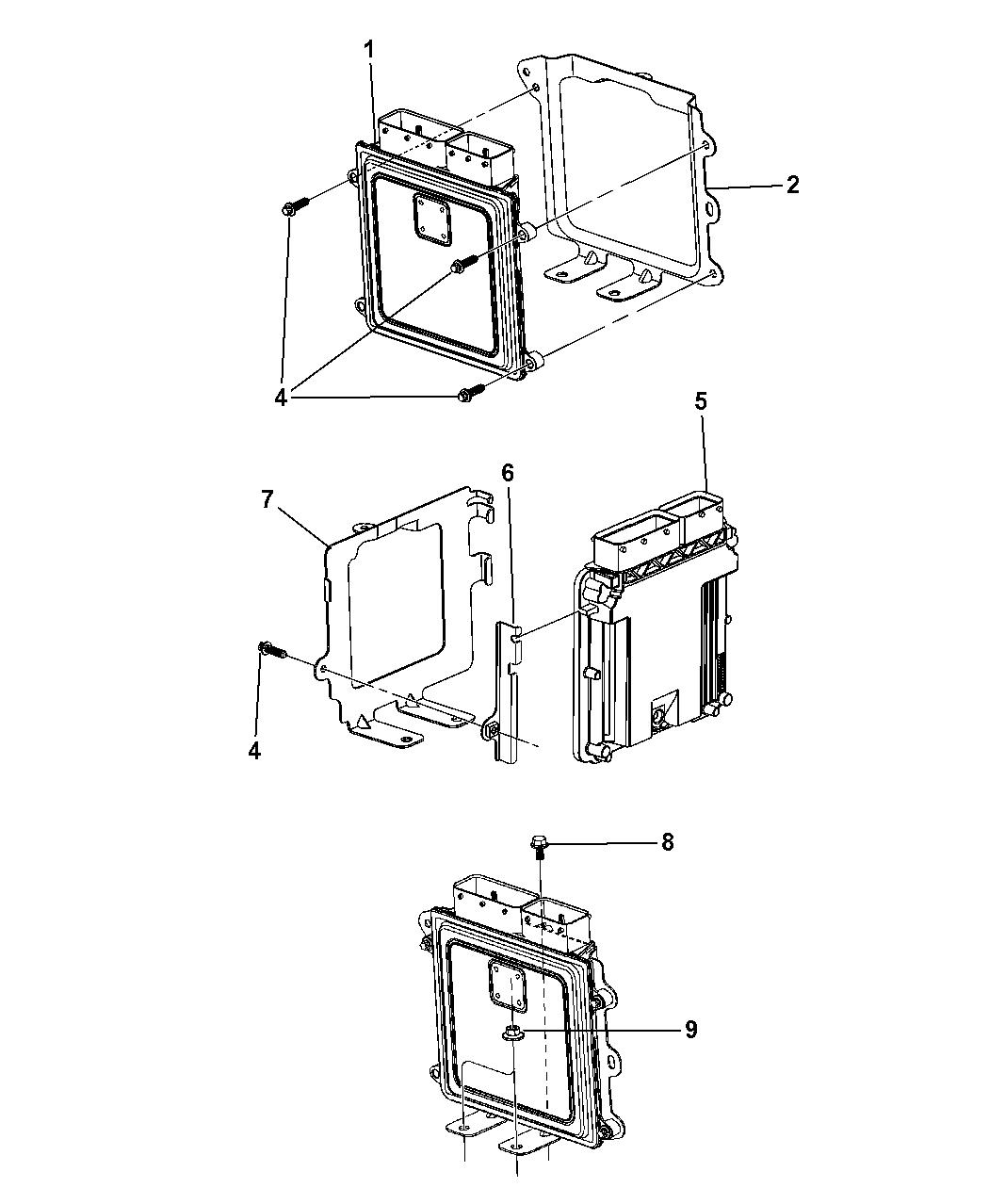 Jeep Compass Powertrain Control Module