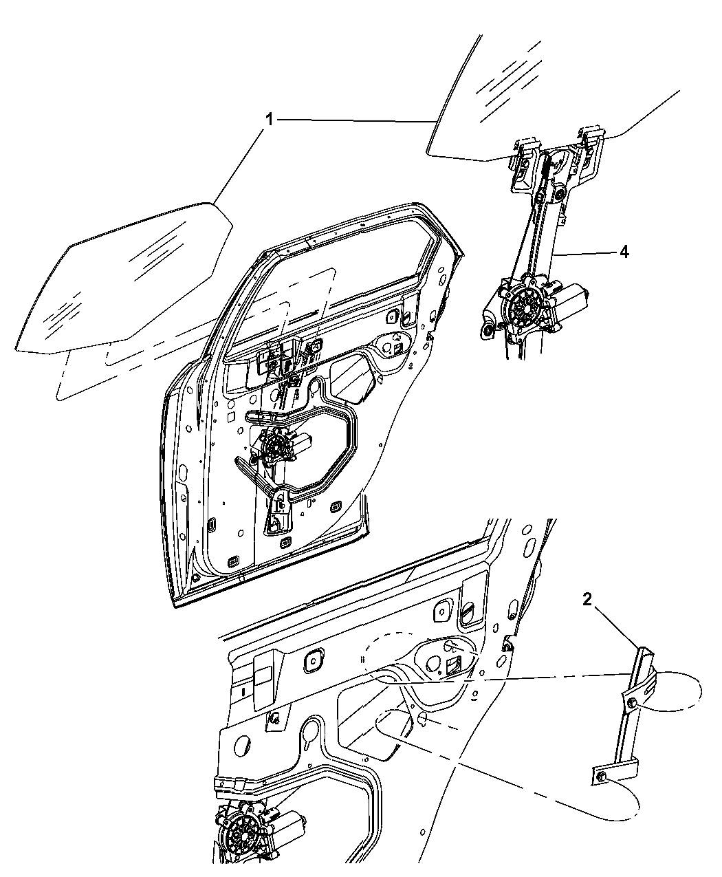 Dodge Magnum Door Rear Glass Amp Regulator