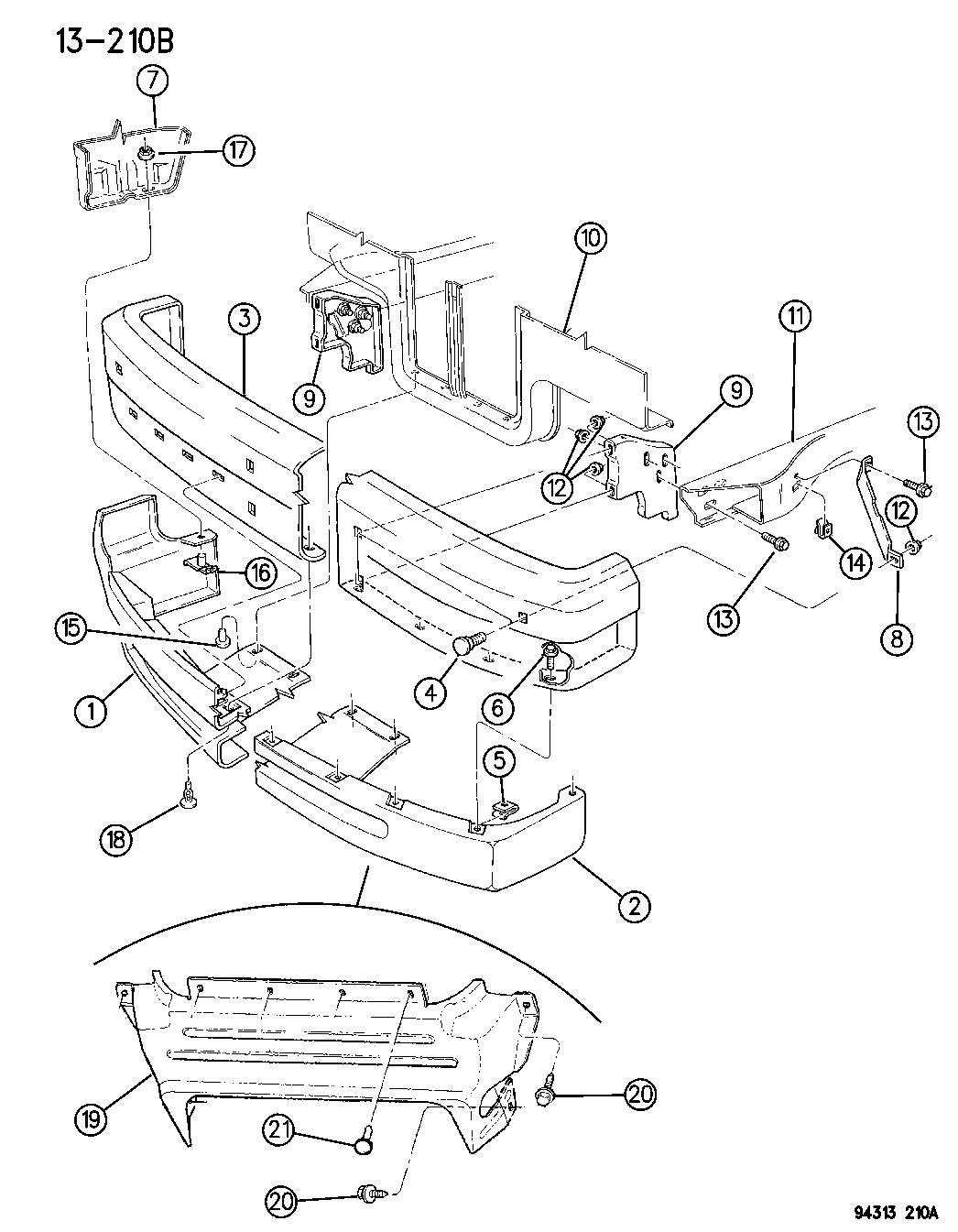 Dodge Dakota Bumper Front
