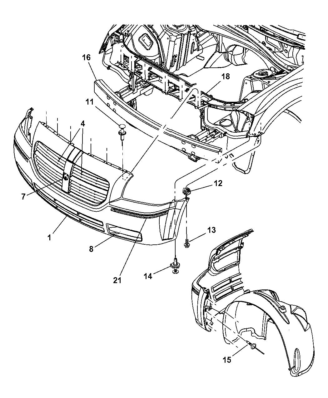 Dodge Magnum Fascia Front