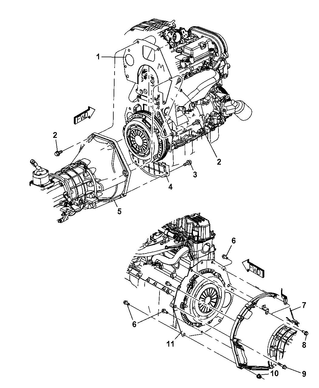 Jeep Wrangler Housing Amp Pan Clutch