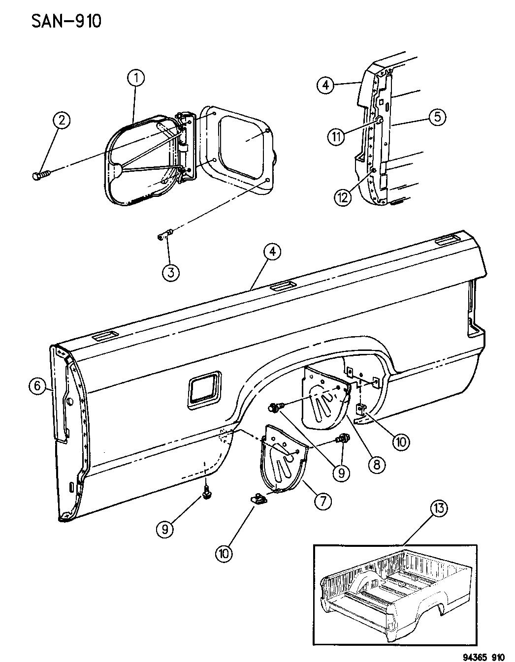 Dodge Dakota Sweptline Box