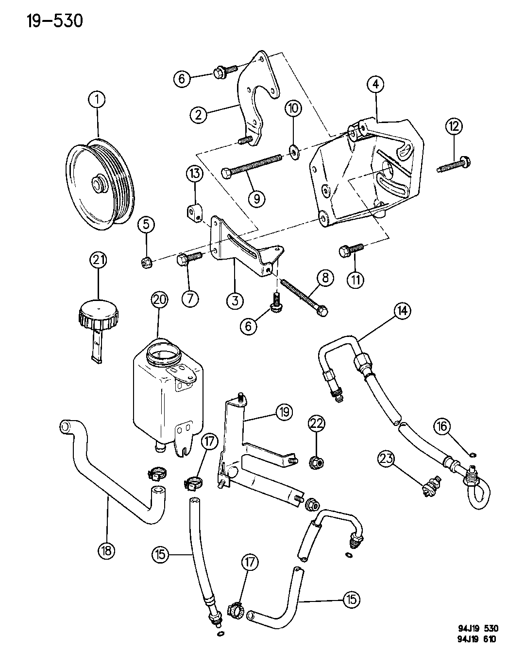Jeep Grand Cherokee Pump Mounting