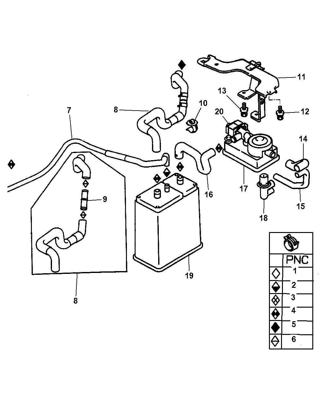 Dodge Stratus Coupe Vacuum Canister Amp Leak Detection Pump