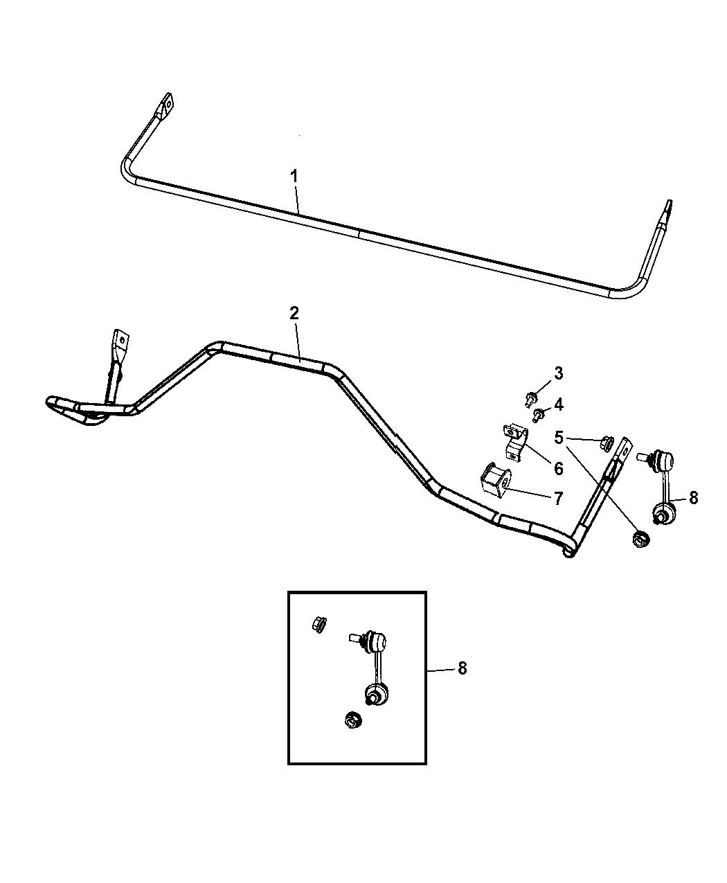Dodge Caliber Stabilizer Bar
