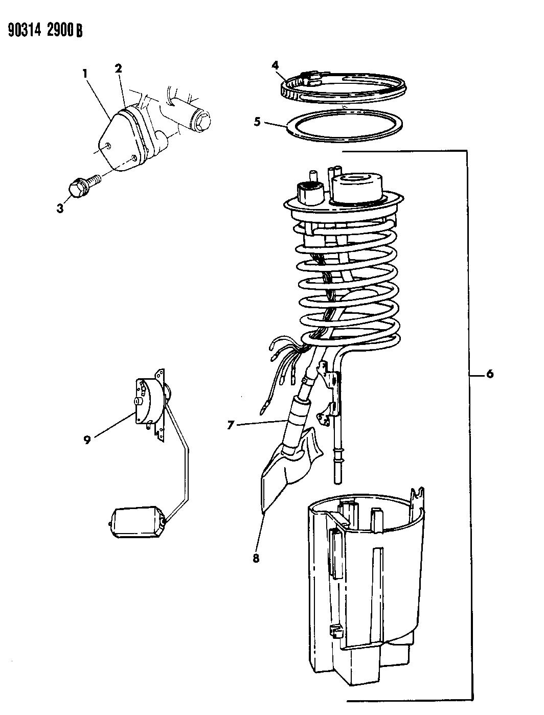 Dodge D150 Fuel Pump Module