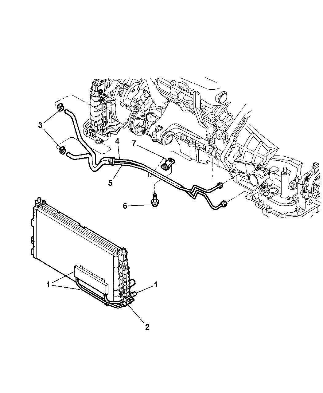 Chrysler 300m Transmission Oil Cooler