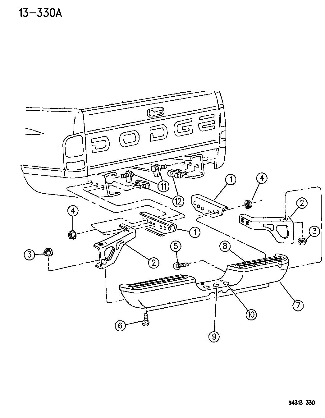 Dodge Ram Bumper Rear