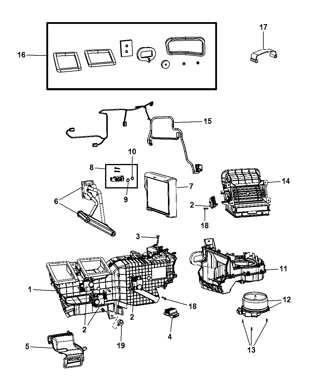 Ram A C Amp Heater Unit Zone