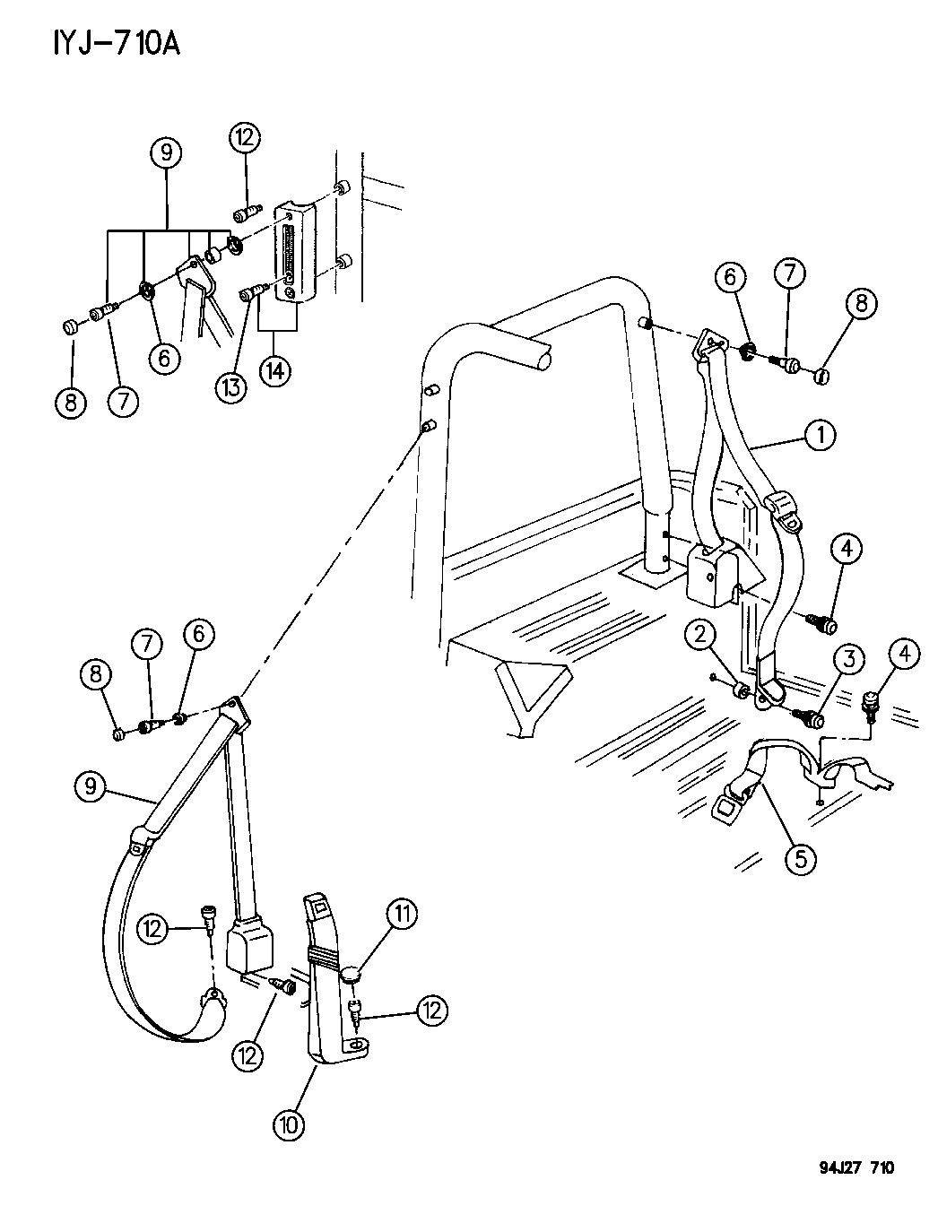 Jeep Wrangler Seat Belts