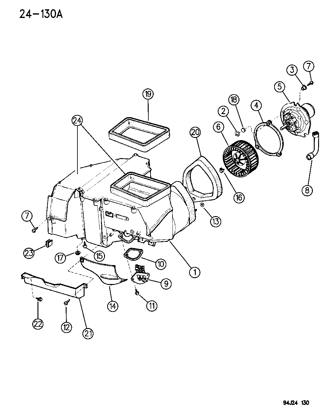 Jeep Cherokee Blower Motor And Housing Heater And Air