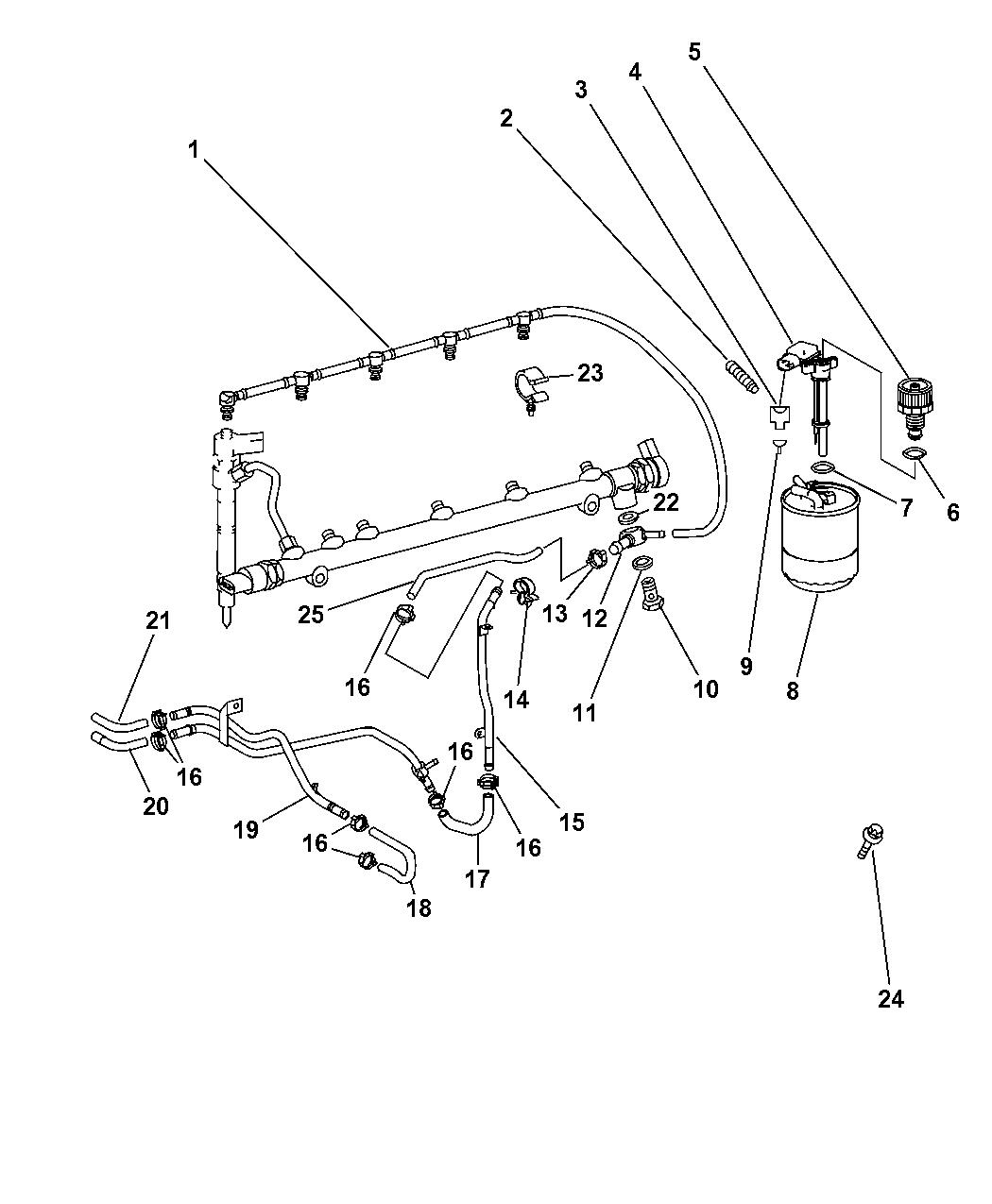 Dodge Sprinter Fuel Line Amp Filter