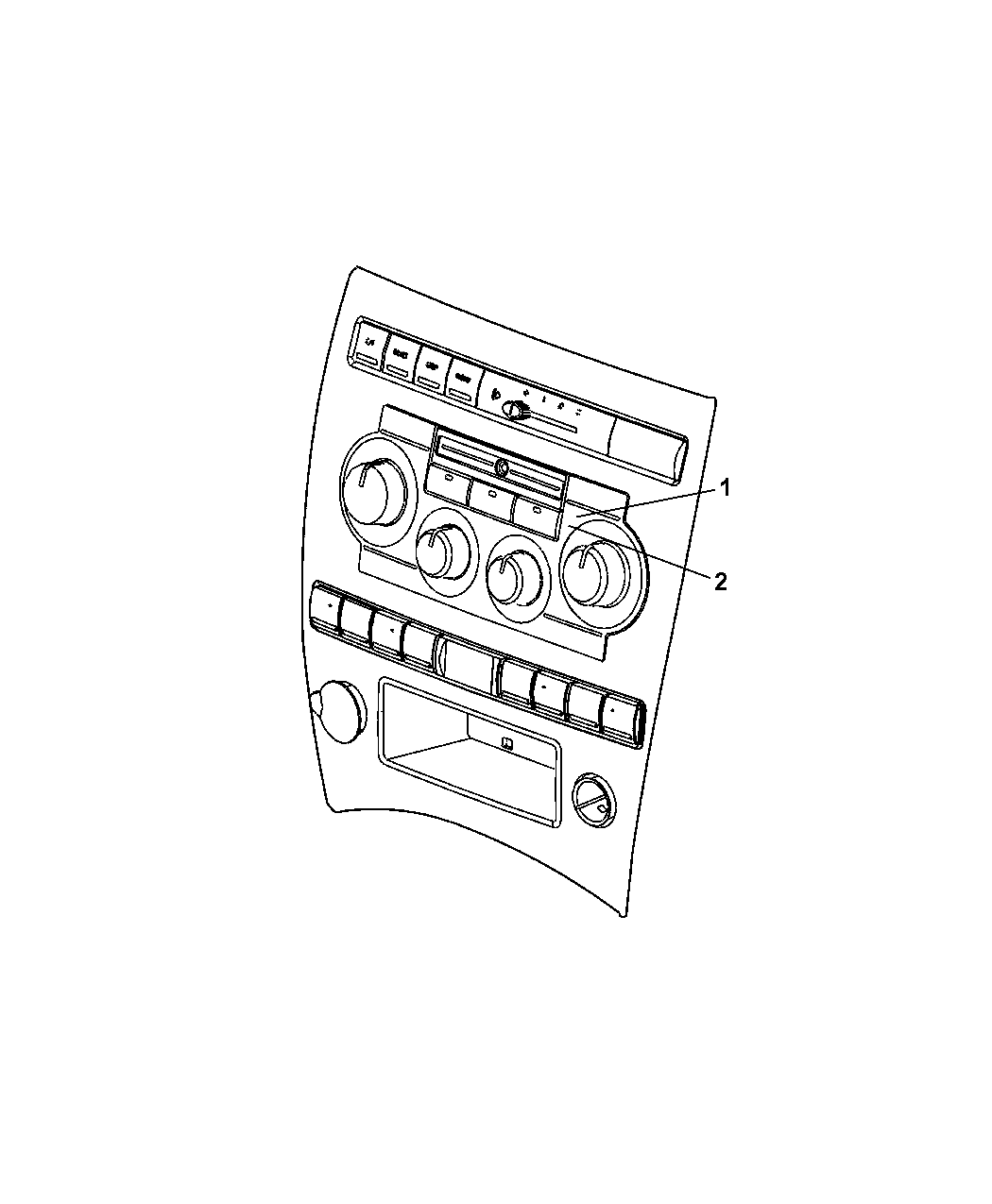 Jeep Commander Control Heater And Air Conditioner