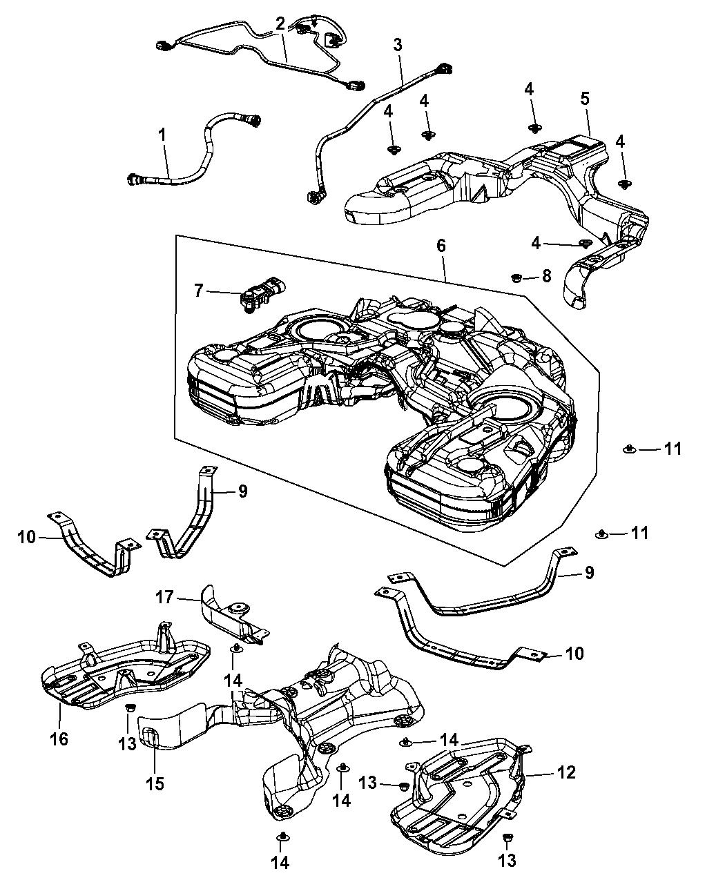 Dodge Durango Fuel Tank