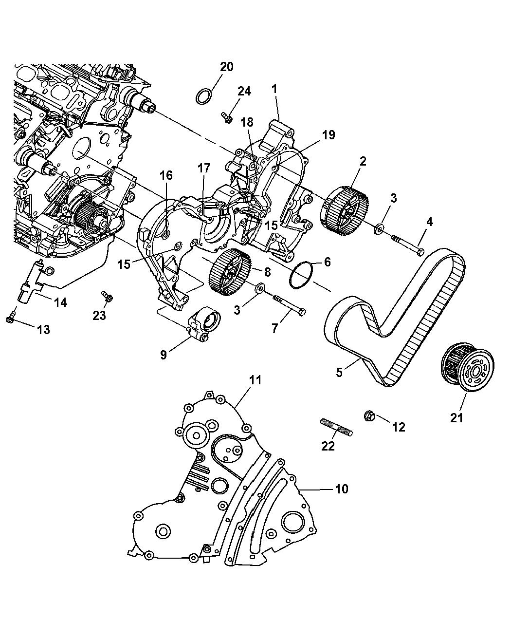 Chrysler Pacifica Timing Belt Amp Cover