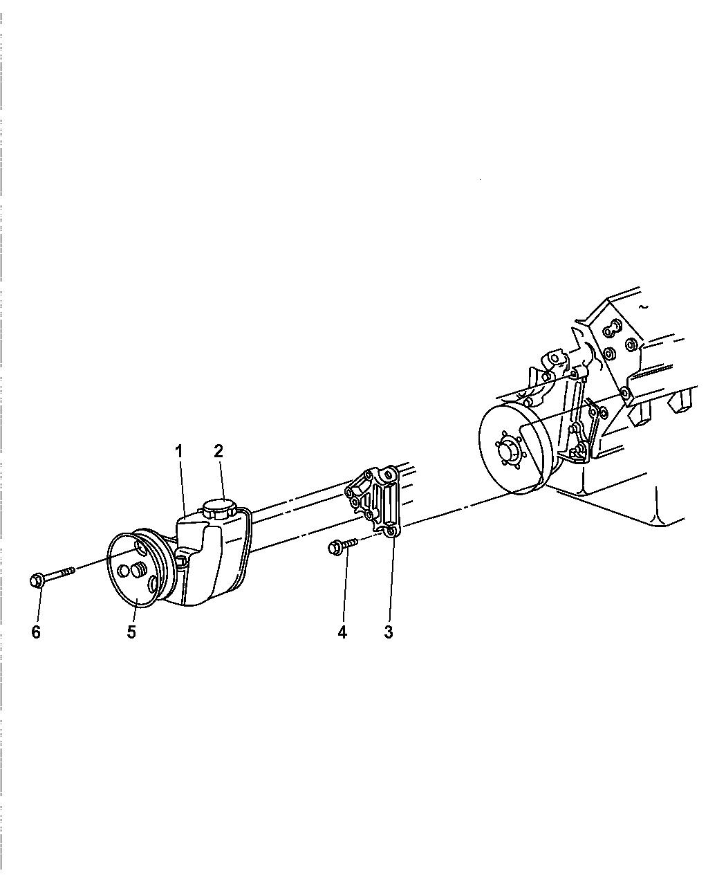 Jeep Grand Cherokee Power Steering Pump Amp Mounting