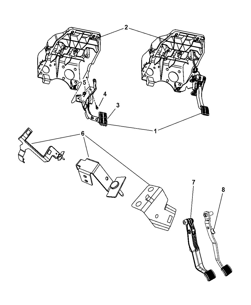 Dodge Ram Brake Pedal