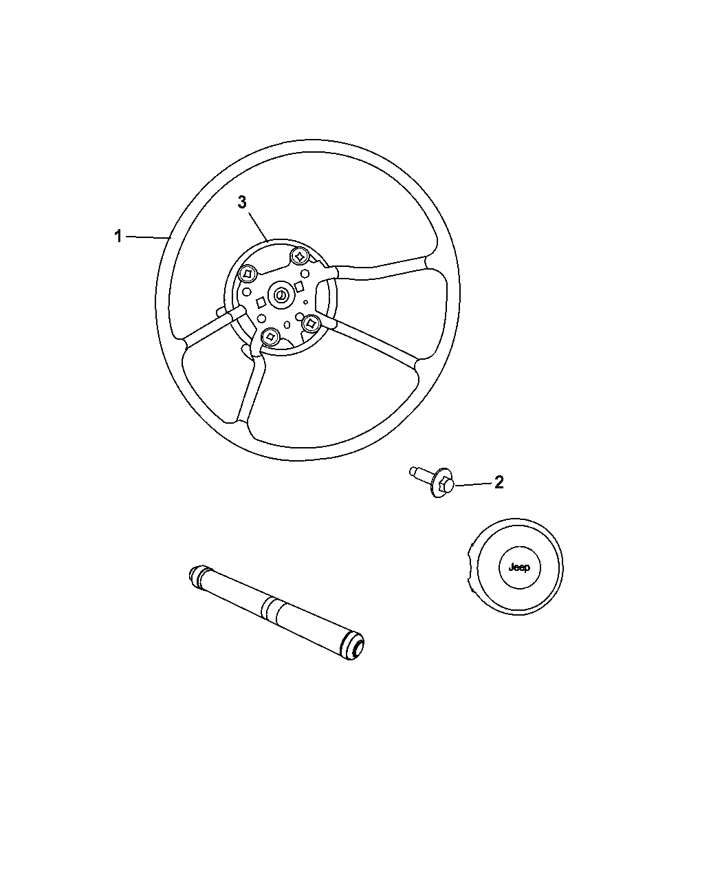 Jeep Wrangler Steering Wheel Assembly