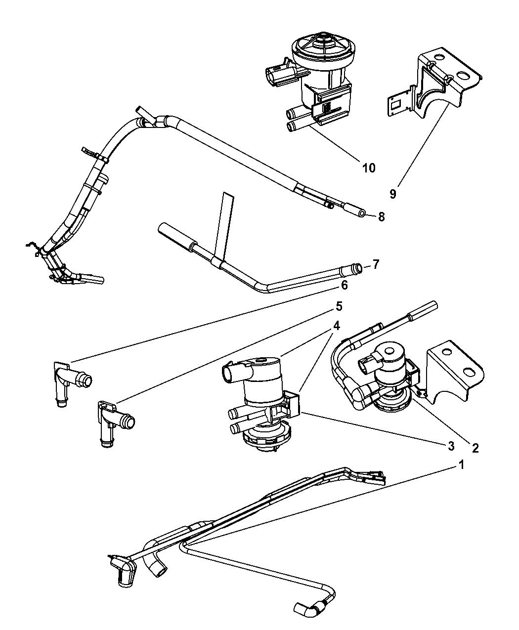Dodge Ram Emission Control Vacuum Harness