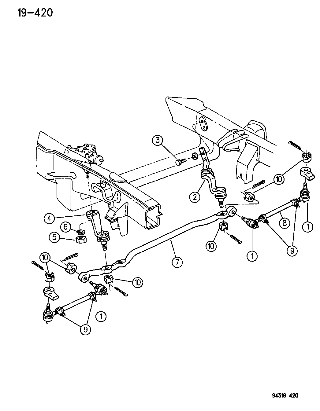 Dodge Dakota Linkage Steering