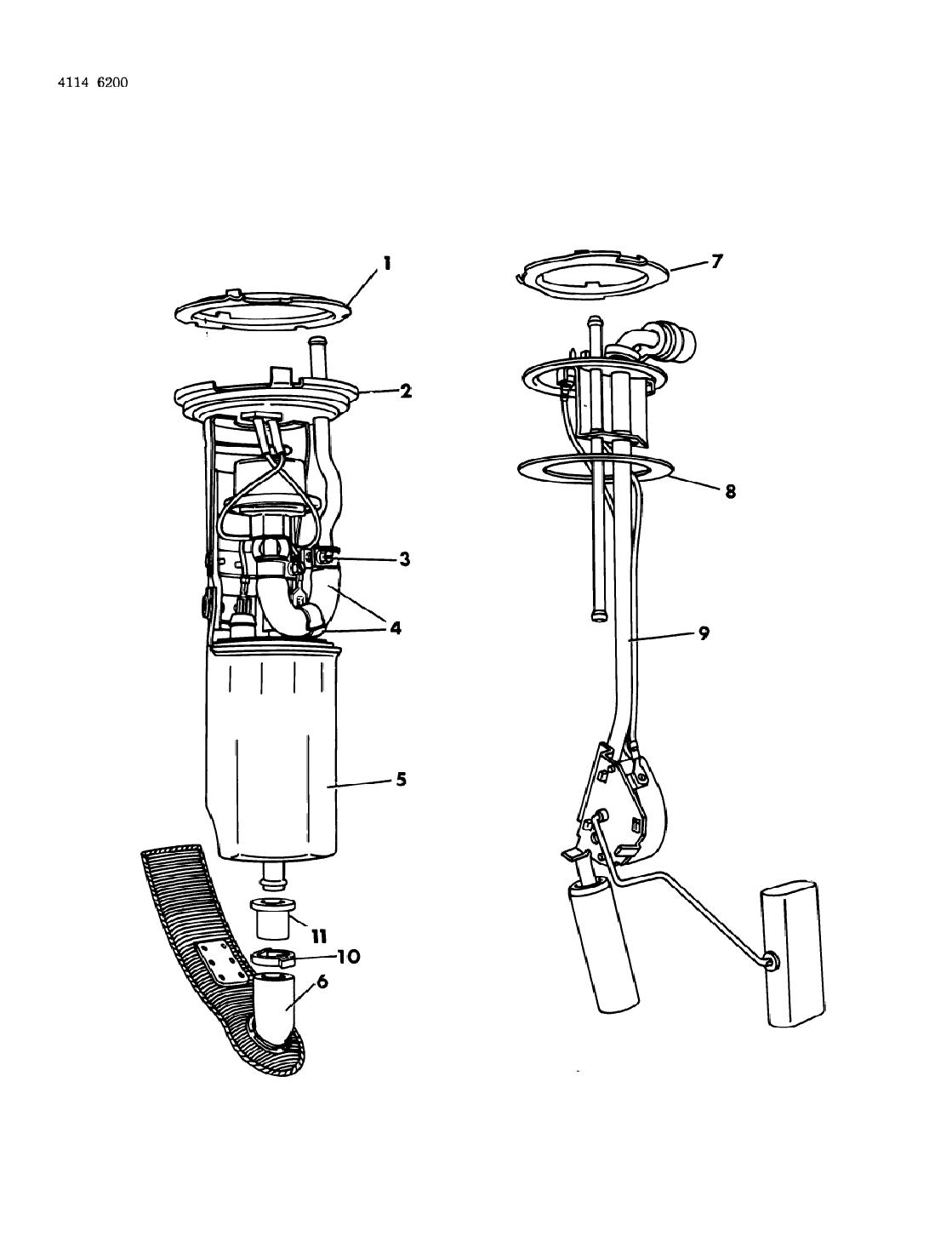 Chrysler Lebaron Fuel Pump Amp Sending Unit