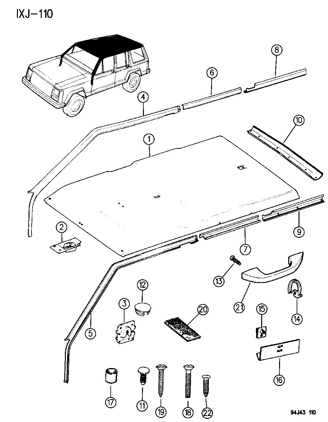 Jeep Cherokee Headliner Amp Upper Trim Mouldings