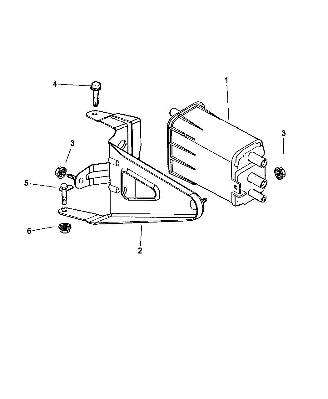 Dodge Dakota Vacuum Canister