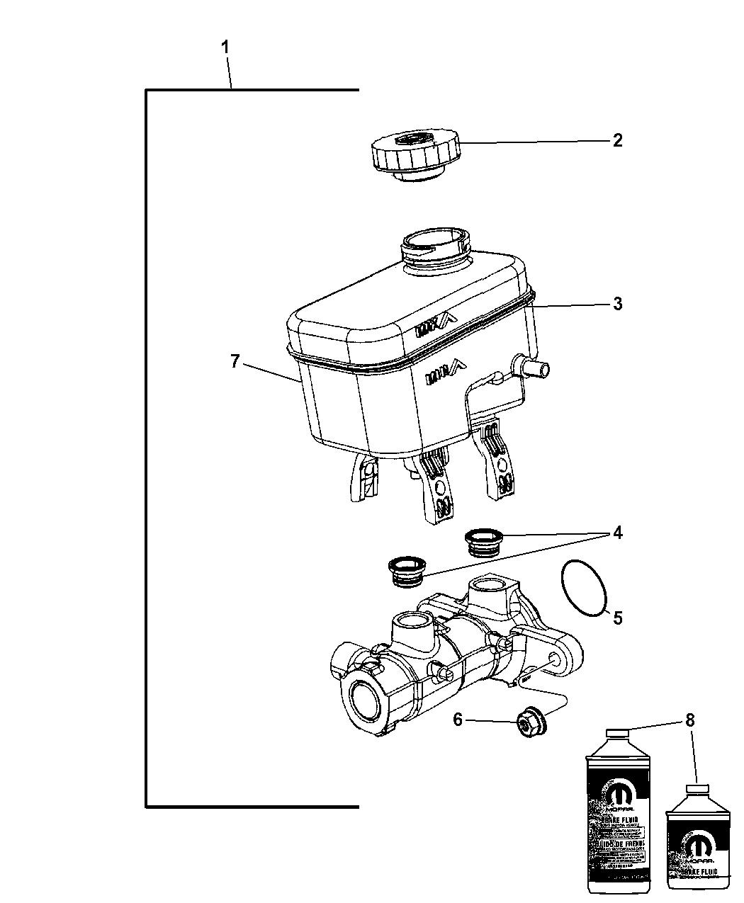 Jeep Wrangler Brake Master Cylinder