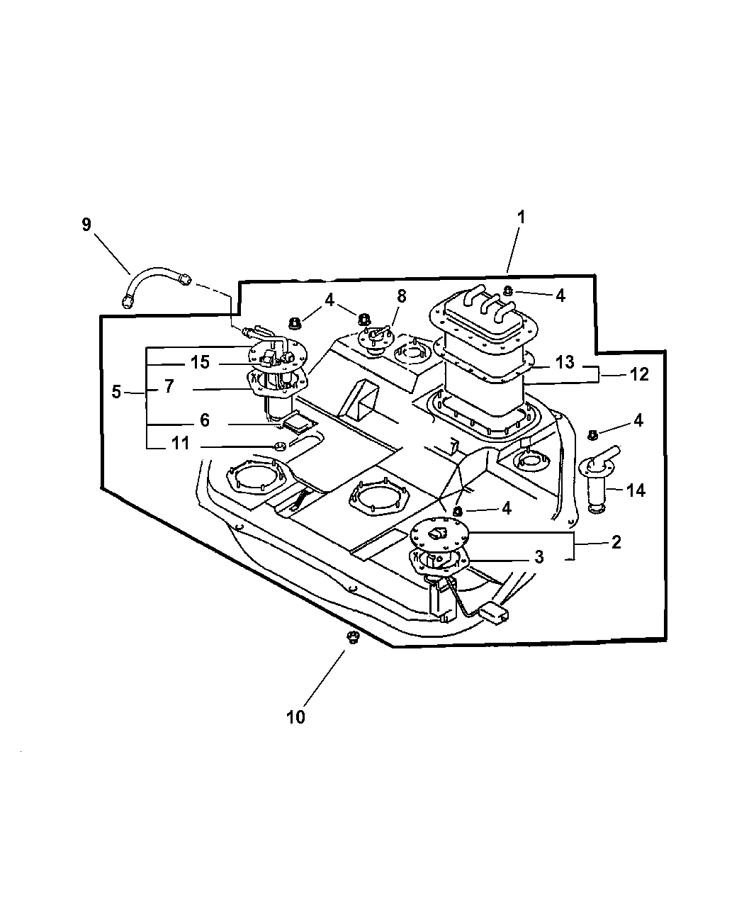 Chrysler Sebring Coupe Fuel Tank Amp Pump