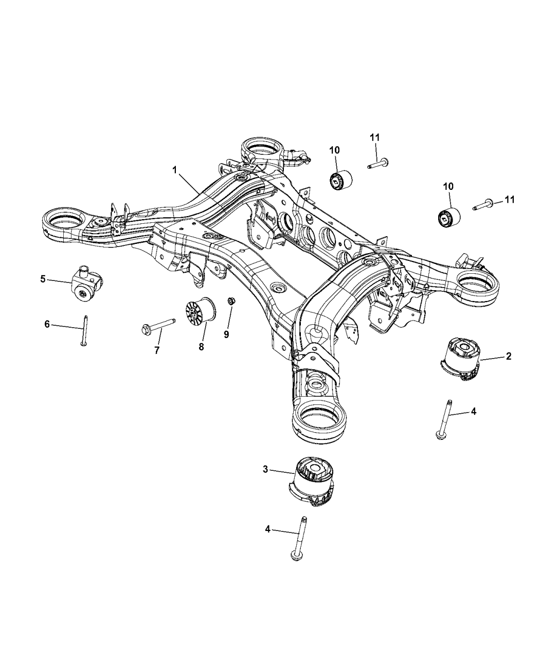 Jeep Grand Cherokee Cradle Rear Suspension