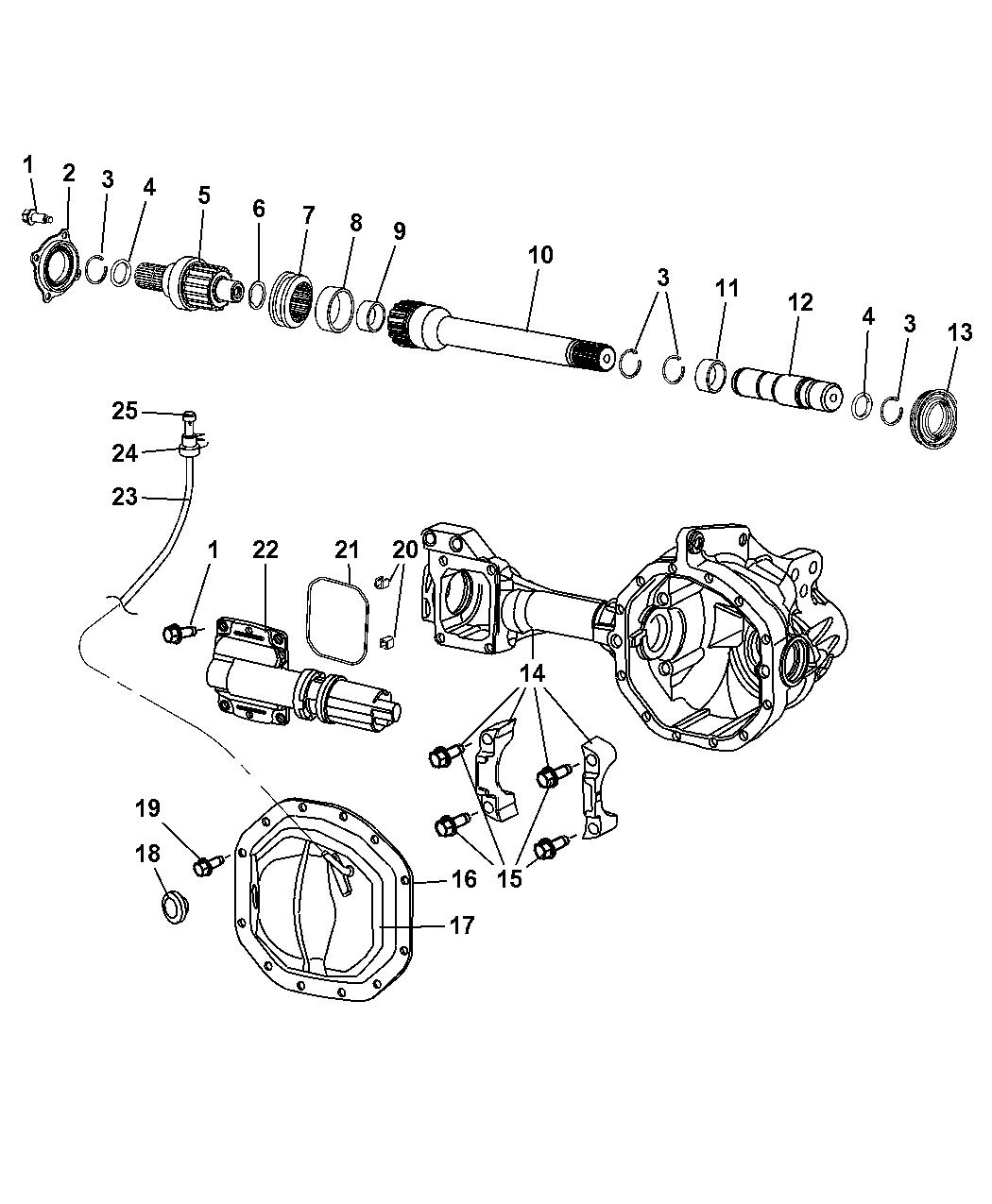 Dodge Ram Axle Housing Front