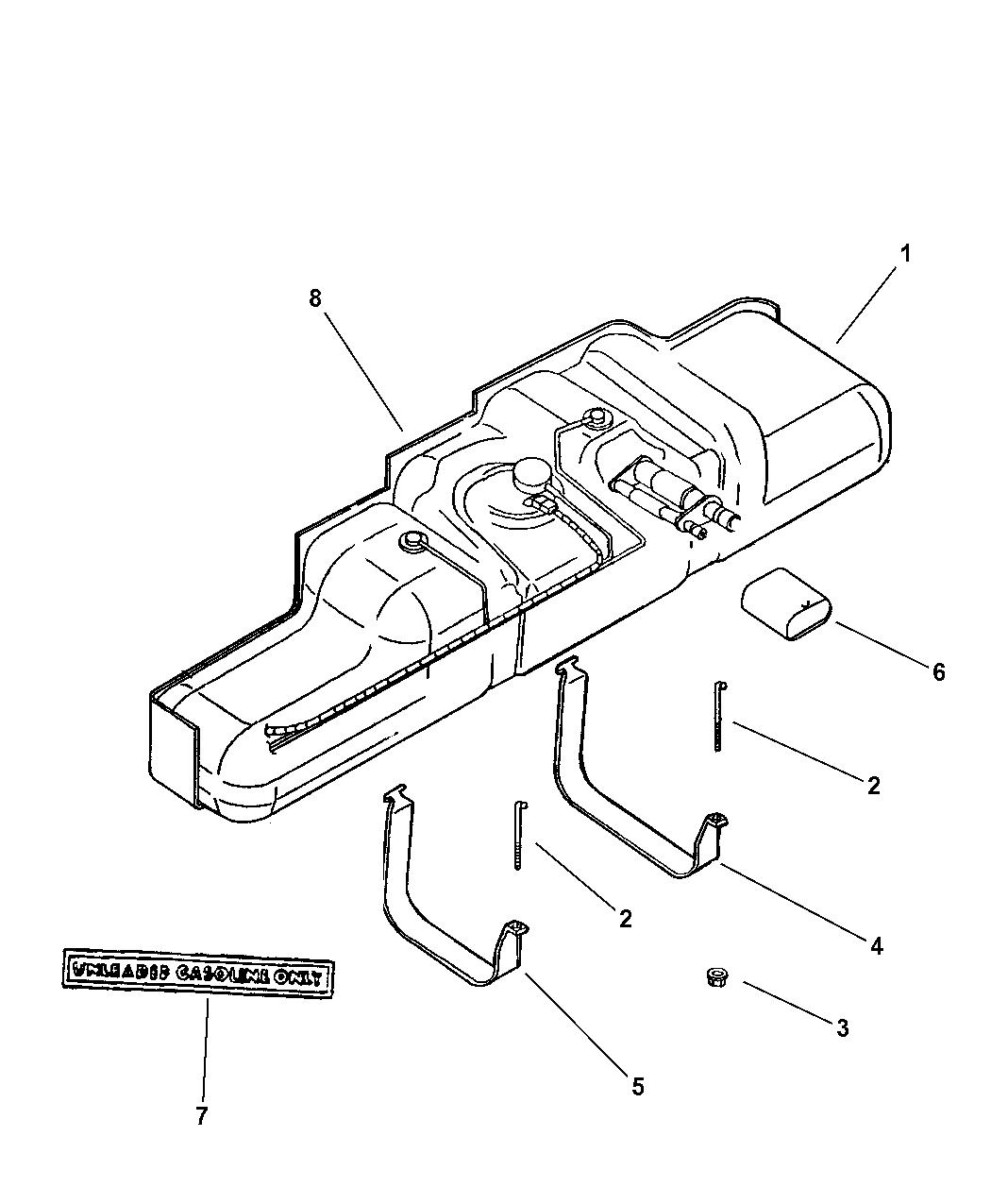 Dodge Ram Van Fuel Tank