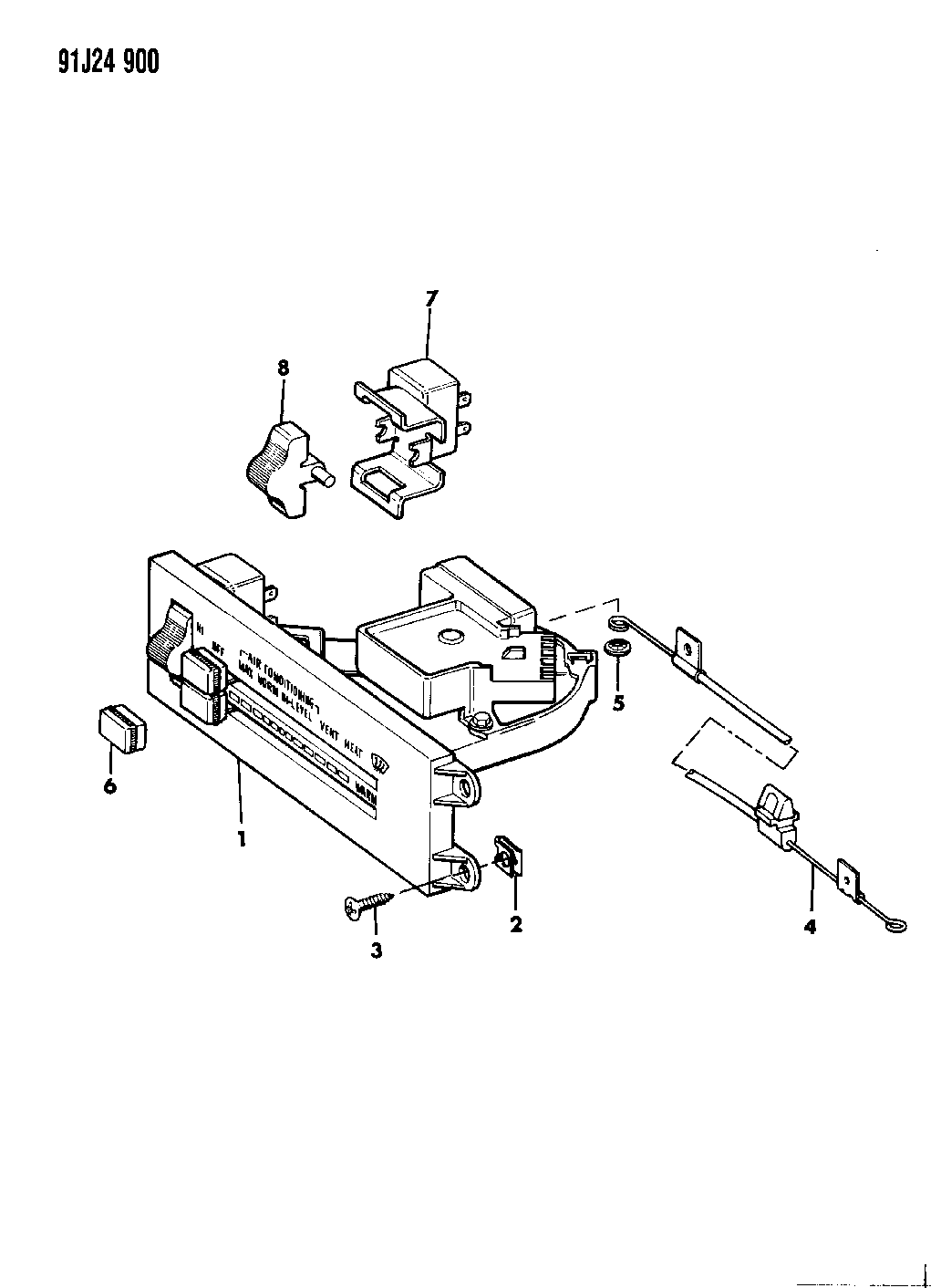 Jeep Comanche Controls Heater And Air Conditioning