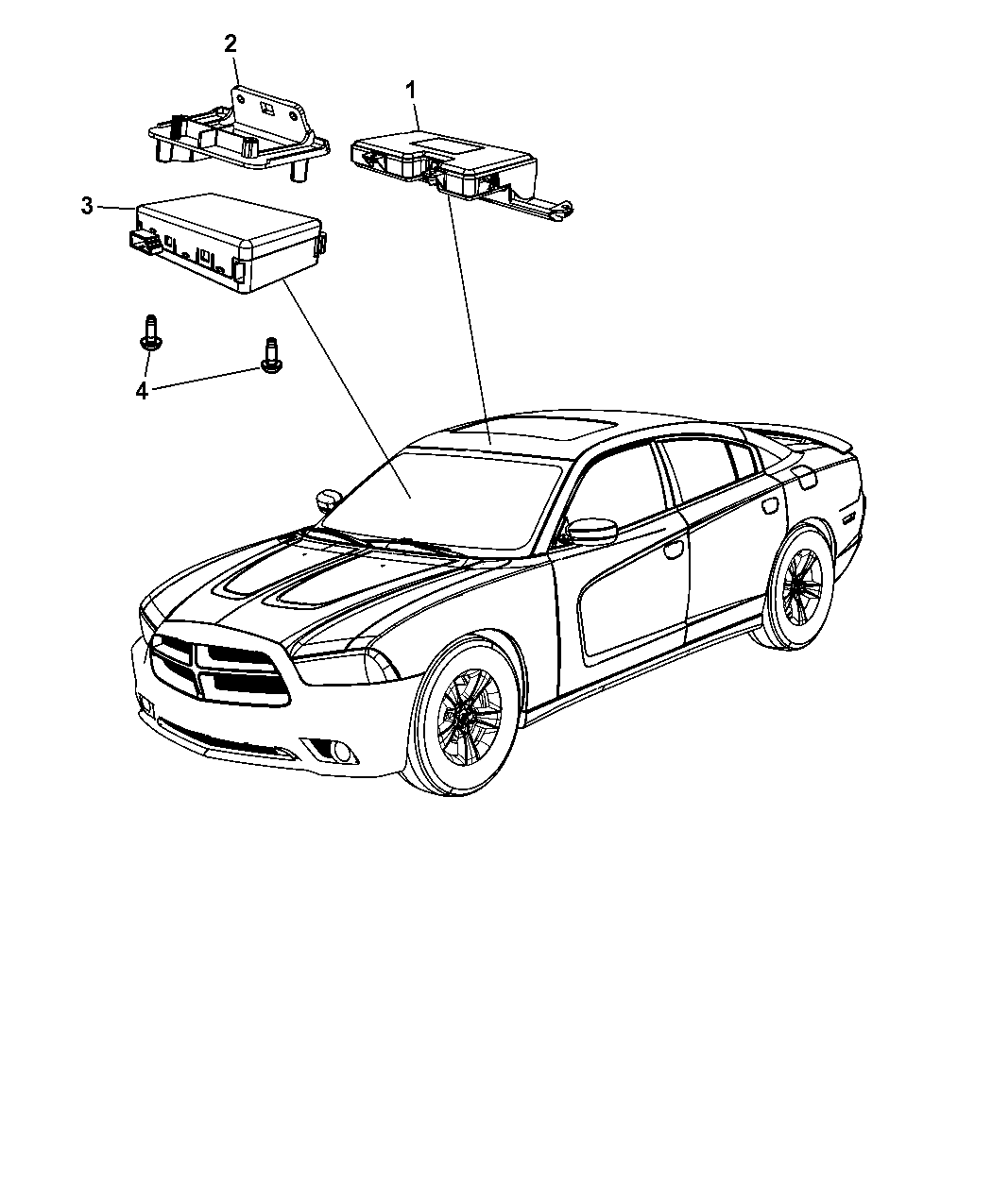 Dodge Charger Modules Overhead